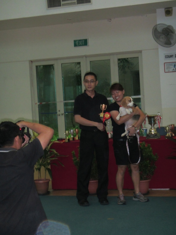 1st time trialing .. Result 3rd in JFF Obedience .